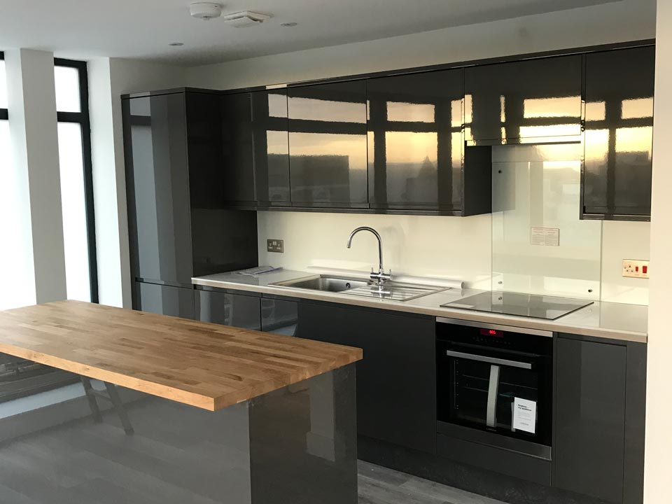 Facility Work - Kitchen Fitting for a New Build in Bournemouth - Emerald Facility Maintenance Ltd
